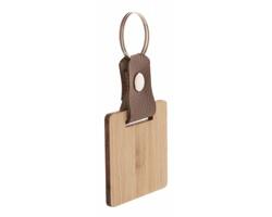 Bambusový přívěsek na klíče BLOPP - čtverec