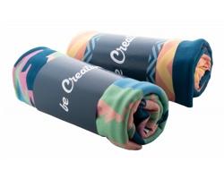 Fleecová deka se sublimací CREABLANKET - bílá