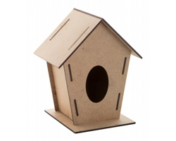 Dřevěná skládací ptačí budka TOMTIT - přírodní