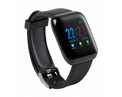 Plastové chytré hodinky YOSMAN - černá