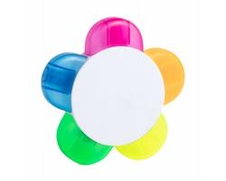 Plastový pětibarevný zvýrazňovač HINDAL - vícebarevná