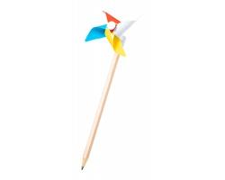 Dřevěná tužka s větrníkem ZHILIAN - vícebarevná / přírodní