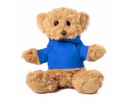 Plyšový medvídek LOONY s tričkem pro potisk - modrá / hnědá