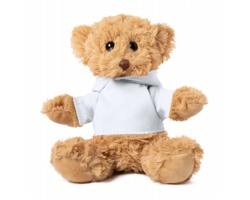 Plyšový medvídek LOONY s tričkem pro potisk - bílá / hnědá