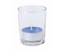 Vonná čajová svíčka PERSY ve skleničce - modrá