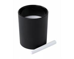 Vonná svíčka TEMUL ve skleničce s povrchem pro psaní křídou - černá