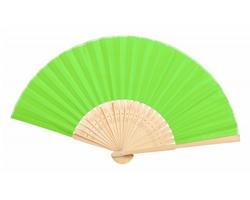 Textilní vějíř KRONIX s bambusovými žebry - limetková / přírodní