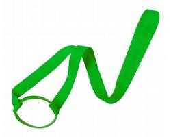 Polyesterový lanyard s držákem na pití FRINLY - zelená
