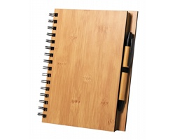 Bambusový poznámkový blok POLNAR s kuličkovým perem, formát A5 - přírodní