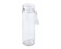 Skleněná sportovní lahev HELUX, 420 ml - bílá / transparentní