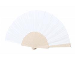Plastový vějíř LENCER - přírodní / bílá