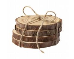 Sada dřevěných podtácků YANTIC - přírodní