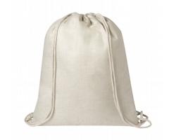Polyesterový šňůrkový batoh LIZCOM vhodný pro potisk sublimací - béžová