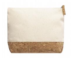 Kosmetická taška SUBRUM s korkovým dnem - béžová