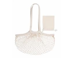 Síťovaná skládací nákupní taška NACRY - béžová