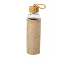 Skleněná sportovní lahev KASFOL, 500 ml - přírodní