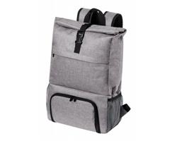 Polyesterový batoh HOWAR s termo kapsou - šedý melír