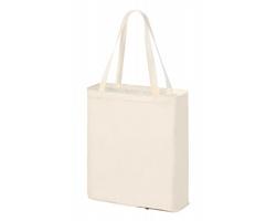 Skládací látková nákupní taška DYLAN - přírodní / bílá