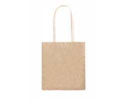 Papírová nákupní taška CURIEL - přírodní / bílá