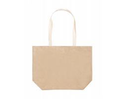 Papírová nákupní taška PALZIM - přírodní / bílá