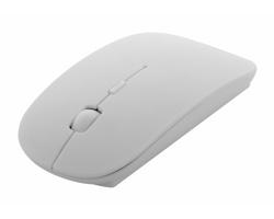 Plastová optická myš SUPOT s antibakteriální ochranou - bílá