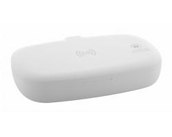Plastový UV sterilizační box HALBY s bezdrátovou nabíječkou - bílá