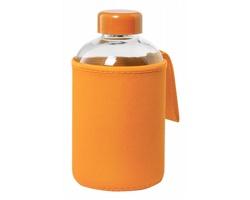 Skleněná sportovní lahev FLABER s obalem, 600 ml - oranžová