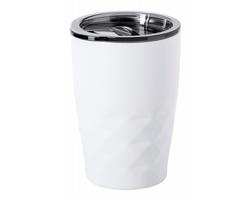 Kovový termohrnek s měděnou izolací BLUR, 500 ml - bílá