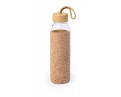 Skleněná sportovní lahev TRUPAK s korkovým pouzdrem, 500 ml - přírodní