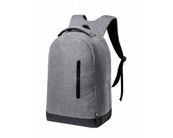Městský batoh BULMAN z recyklovaného materiálu - šedý melír