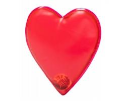 Hřejivý polštářek ZAROA ve tvaru srdce - červená