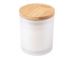 Vonná svíčka TRIVAK s bambusovým víčkem - bílá