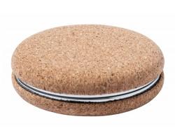 Skládací kapesní zrcátko ALUNAX s korkovým povrchem - přírodní