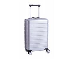 Plastový kufr na kolečkách SILMOUR - stříbrná