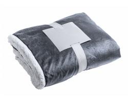Dvouvrstvá fleecová deka LERTEN - šedý melír
