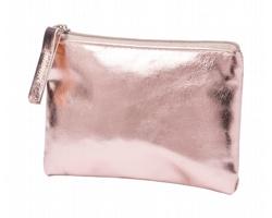 Metalická peněženka FAUDOK z PU kůže - růžová