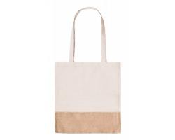 Látková nákupní taška LERKAL s jutovým dnem - přírodní