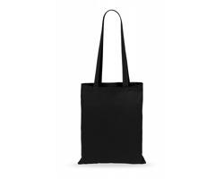 Látková nákupní taška TURKAL s dlouhými držadly - černá