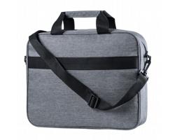 Polyesterová taška na notebook LENKET s RFID ochranou - šedá
