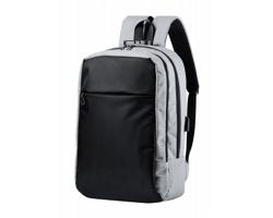 Nepromokavý městský batoh BRINEM s USB portem - šedá / černá