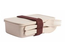 Plastový box na jídlo TAXLAM s příborem - přírodní