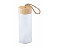 Skleněná sportovní lahev BURDIS, 430 ml - transparentní