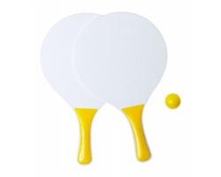 Sada na plážový tenis KONGAL - žlutá / bílá
