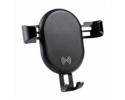 Plastový stojánek na mobil do auta TECNOX s nabíječkou - černá