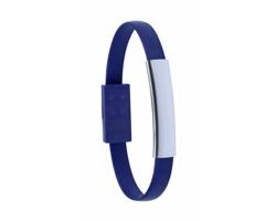 Gumový náramek s USB-C kabelem CEYBAN - modrá