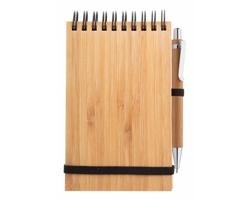 Bambusový poznámkový blok TUMIZ s bambusovým kuličkovým perem - přírodní
