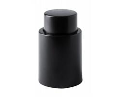 Plastová vakuová zátka na lahve HOXMAR - černá