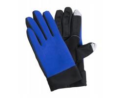 Polyesterové dotykové sportovní rukavice VANZOX - modrá / černá