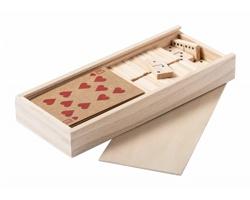 Sada her HALIN v dřevěné krabičce - přírodní