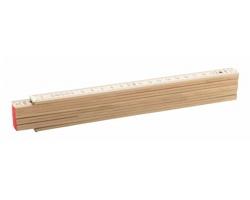Dřevěný skládací metr GABLE, 2 m - přírodní